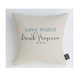 Save water drink Prosecco cushion