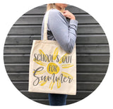 Schools out for summer canvas bag