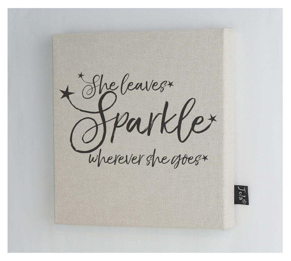 She leaves sparkle stars Canvas frame