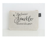 She leaves sparkle stars small make up bag