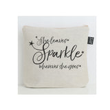 She leaves sparkle stars black wash bag