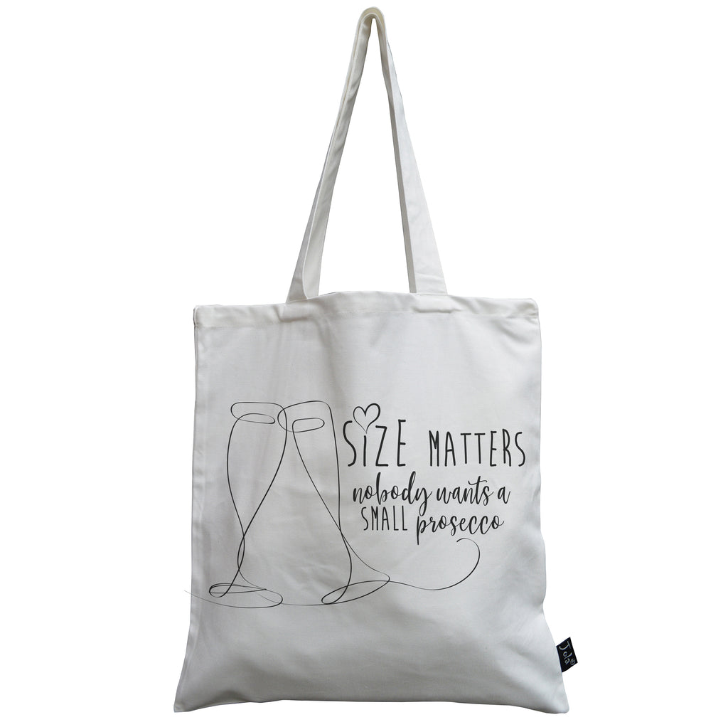 Size Matters canvas bag