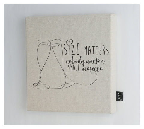 Size Matters canvas frame
