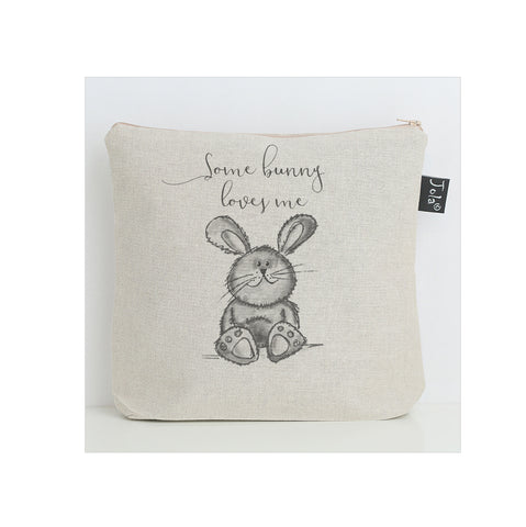 Some Bunny Loves Me grey nappy bag