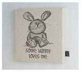 Cute Some Bunny Loves me canvas frame
