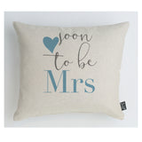 Soon to be Mrs Cushion blue heart