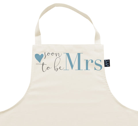 Soon to be Mrs Apron blue heart