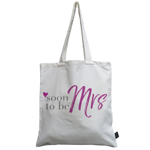 Soon to be Mrs canvas bag