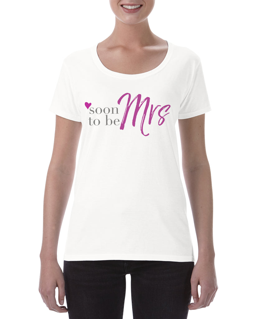 Cotton T Shirt Soon to be Mrs Pink