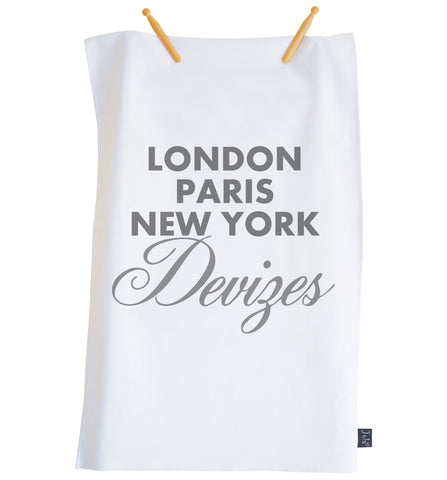 Personalised City Sparkle font Tea Towel
