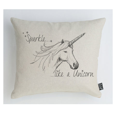 Unicorn Sparkle cushion