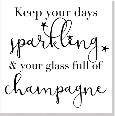 Sparkling Champagne square card
