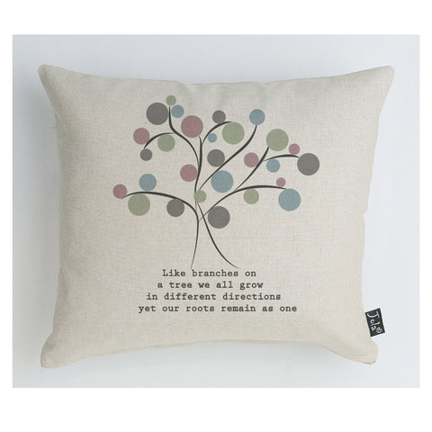 Spotty Family Tree cushion