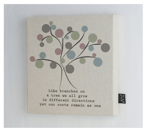 Spotty Family Tree Canvas Frame