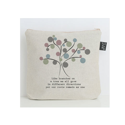 Spotty Family Tree washbag