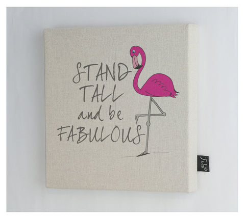 Stand tall flamingo Canvas frame