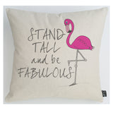 Stand tall flamingo cushion