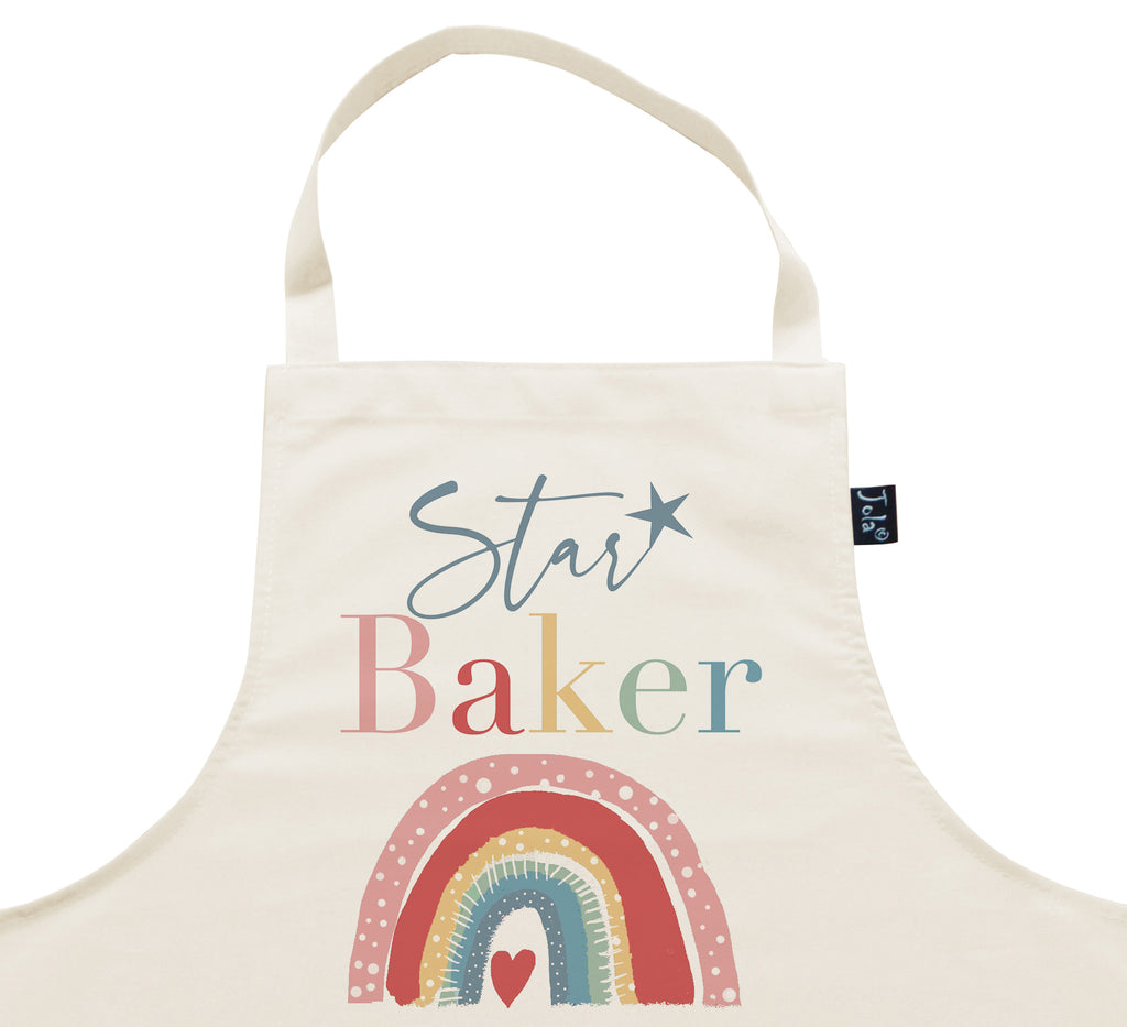 Bake off Fundraising Star Baker Rainbow Apron