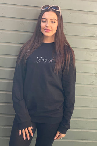 StayinGIN Oversized Cotton Mix Sweatshirt