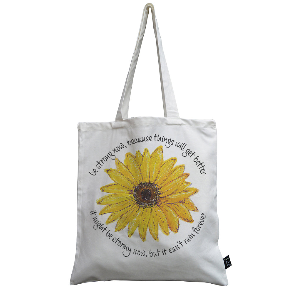 Be strong  ECH sunflower canvas bag