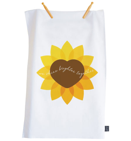 We Shine Brighter Together ECH Tea Towel
