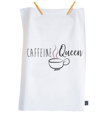 Caffeine Queen Tea towel