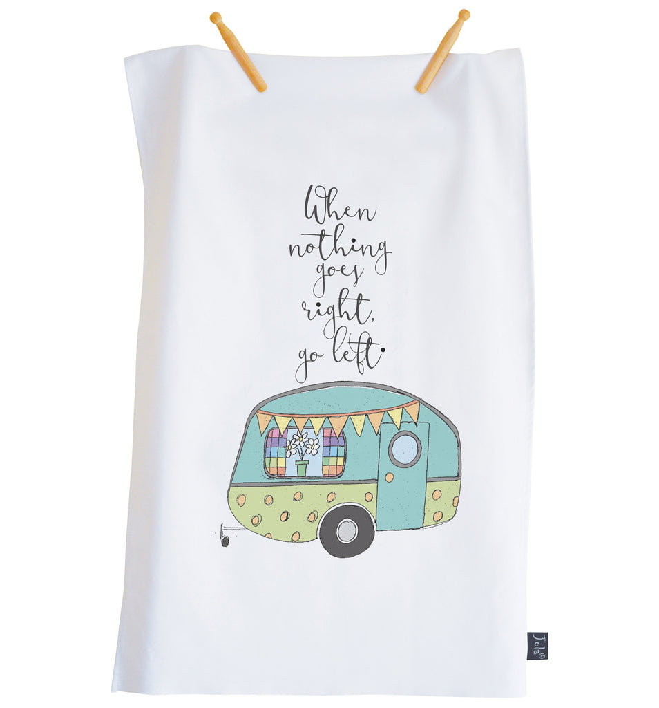 Tea Towel Caravan Go left