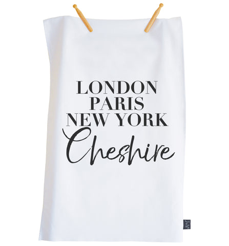City Vogue Personalised tea towel