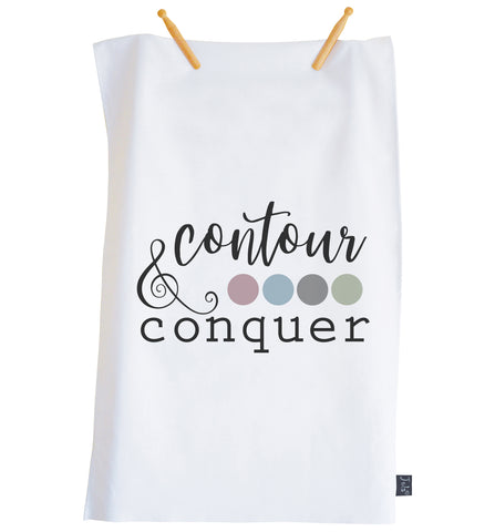 Contour & Conquer Tea towel