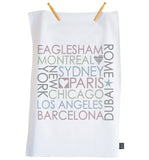 Personalised Block City Tea Towel