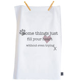 Fill your heart Tea towel