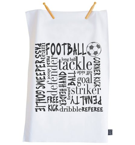 Football Typography Tea towel