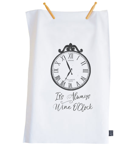 Tea Towel Wine O'Clock