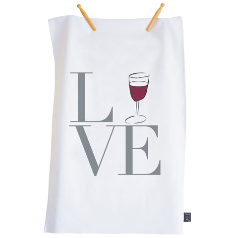 Love Wine tea towel