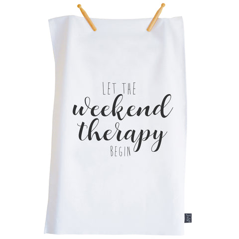 Let the weekend Therapy Begin Tea Towel