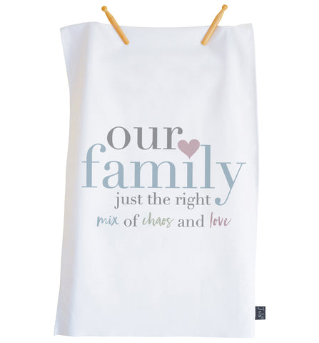 Our Family Pastel Tea towel
