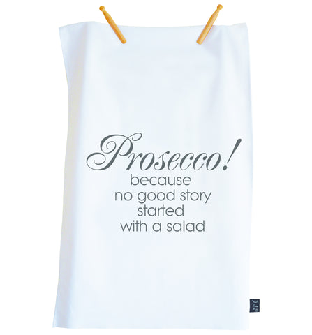 Personalised Prosecco Salad Tea Towel