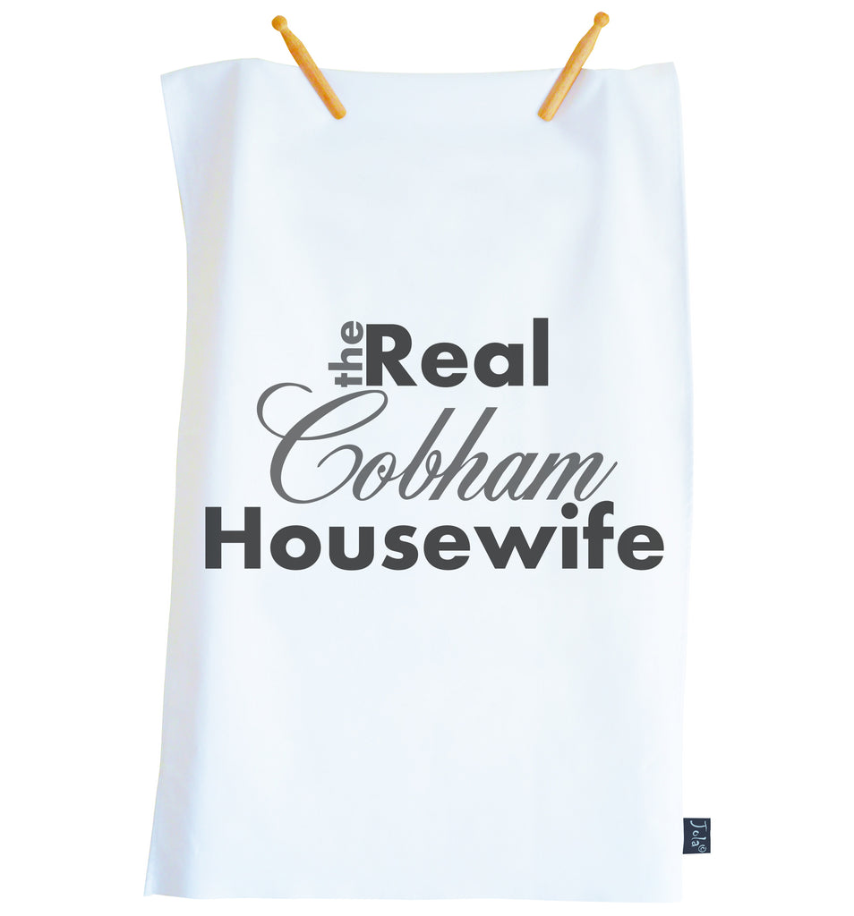 Trade only Personalised The Real Housewife Tea Towel