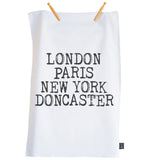 Personalised Retro City Tea Towel