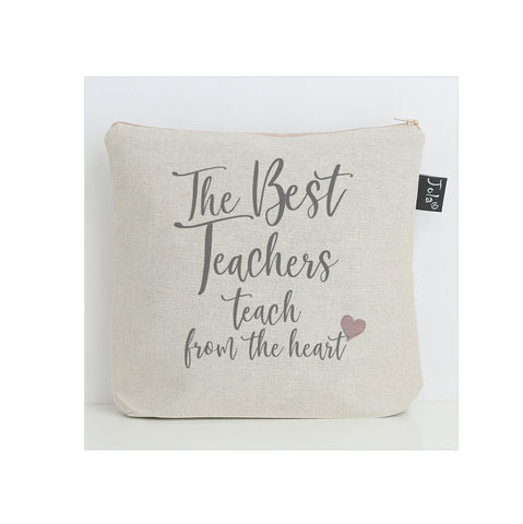 Teach from the heart washbag