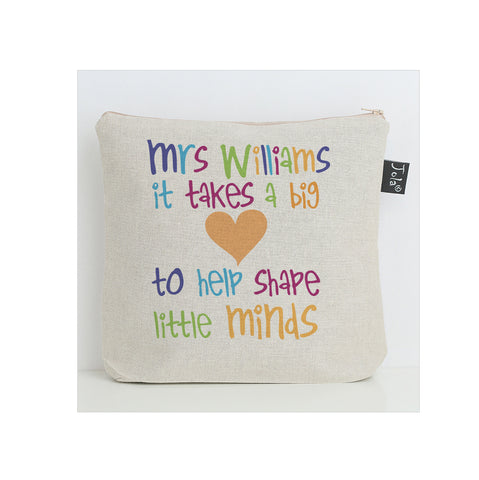 Personalised big heart multi washbag