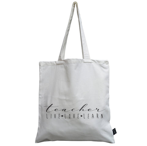 Teacher live love learn Canvas Bag