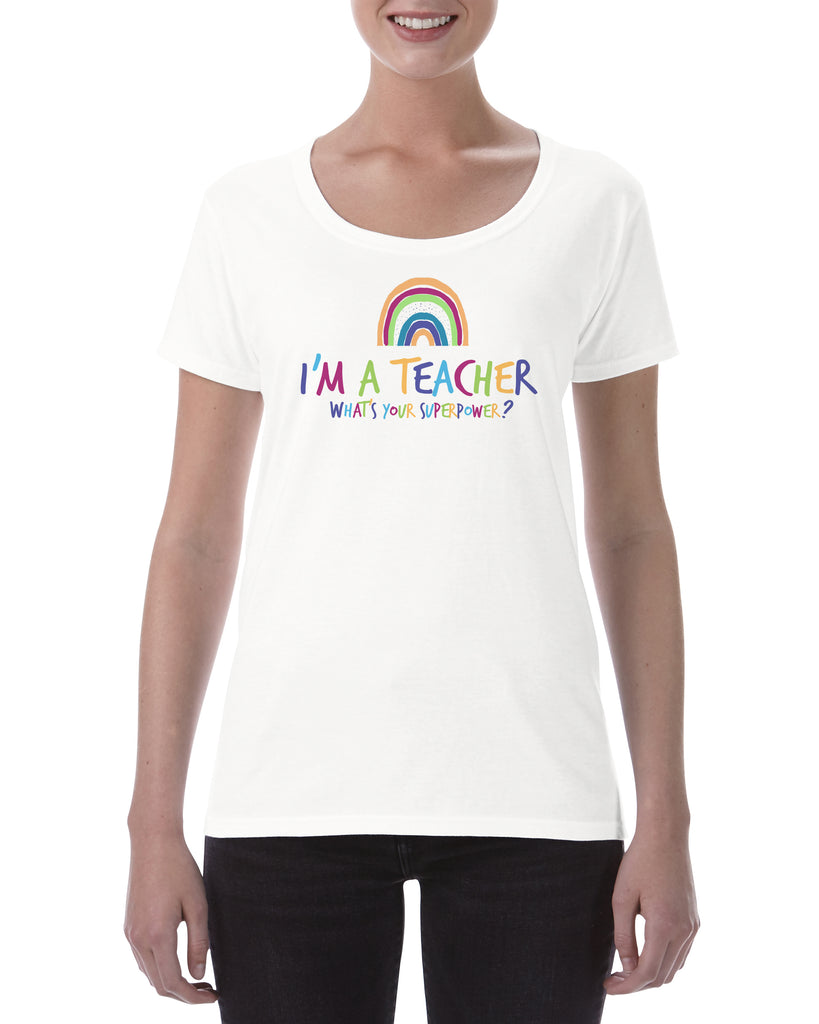 Cotton T Shirt Rainbow Teacher