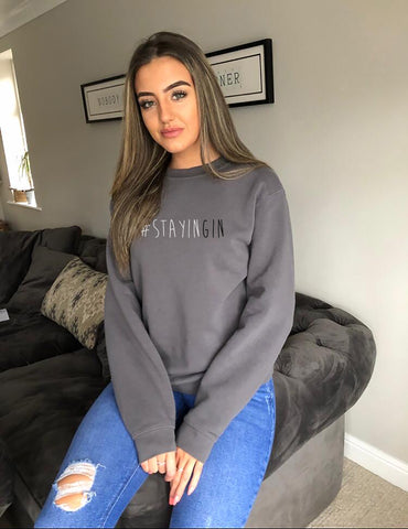 Cotton Grey Sweatshirt StayinGIN