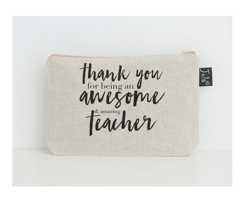 Thank you awesome teacher small make up bag