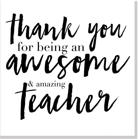 Thank you awesome teacher square card