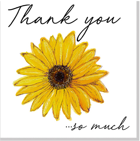 ECH Sunflower Thank you... square card