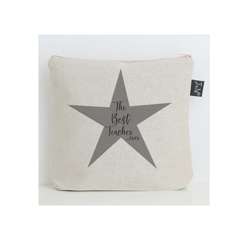 Best Teacher grey star washbag