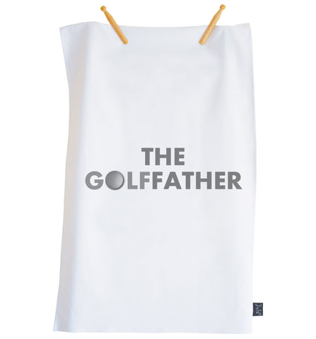 The Golffather tea towel