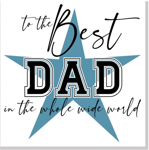 The Best Dad Star square card